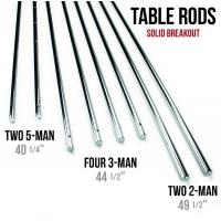 Buy cheap Silver Chromed Solid 5 / 8 Inch Steel Rods For Standard Foosball Tables from wholesalers