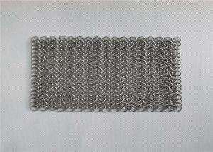 China 8x8 Inch Stainless Steel Cast Iron Pan Cleaner Chainmail Scrubbers on sale