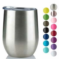 Cheap 220ml Stainless Steel Stemless Wine Tumblers for sale