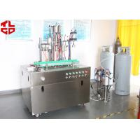 Cheap Efficient Can Filling Machine For Adhesive Remover Spray Semi Automatic 800-1100cans/Hour for sale