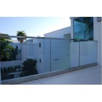 Cheap Frameless Tempered Glass Railing with U Shoe Channel for Terrace for sale