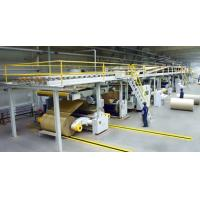 Cheap speed 80m/min steam heating 3ply corrugated cardboard production line/paperbaord line for sale