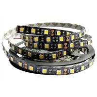 Cheap Outside White SMD 5050 LED Strip For Home 12V 600lm Black Double Layer for sale
