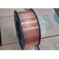 Cheap 0.8mm Copper Plated CO2 MIG Welding Wire With Metal K 300 Spool / Plastic D300 for sale