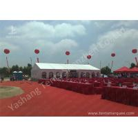 Cheap Outdoor Aluminum Alloy Skeleton Event Tent with Flame Retardant PVC Fabric wholesale