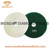 Cheap 5 Inch White Pane Velcro Concrete Floor Dry Use Polishing Pads for sale