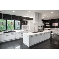 Cheap modern white solid wood custom cabinets new kitchen cabinet design for sale
