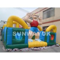 Cheap Rent Funny Hercules Inflatable Fun City For Outside Kids blow upplayground for sale