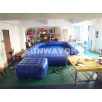 Cheap OEM Double Stitching Air Tight Inflatable Swimming Pools With Platform Summer for sale