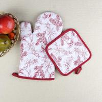 Cheap Leaves Printed Heat Resistant Microwave Professional Oven Gloves Pot Holder for sale