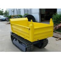 Cheap Honda Gasoline Engine 1000kgs Tracked Concrete Dumper For Site Works CE / SGS / ISO for sale