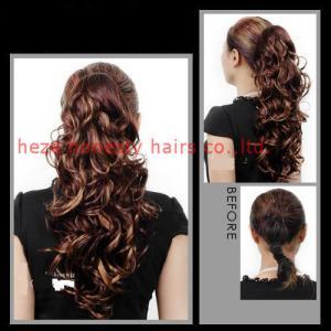 Cheap Wave hair ponytail 100% human hair for sale