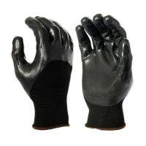 Cheap N1011 13 Gauge Black Polyester Liner, with Black Nitrile 3/4 Coating, Smooth Finished for sale