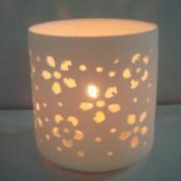Cheap Ceramic Candle Holder, Measures 7 x 7 x 7cm, Romantic and Hollow Design for sale