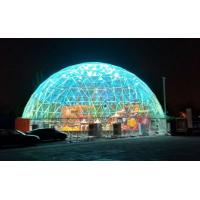 Cheap 20M  PVC Geodesic Dome Strong Structure Steel Steel Tent Transparent For Outdoor Event for sale