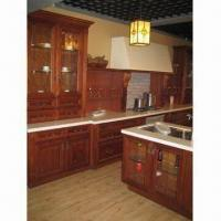 Cheap Kitchen Cabinet, Made of Birch Solid Wood and NC Painting Finish, Carcass of Plywood for sale