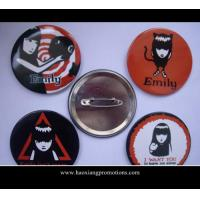 Cheap hot sale lovely gif tsmall tin button badge, tin button badge for sale