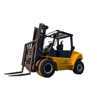 China New 7 ton lift capacity hevy duty hydraulic manual diesel forklift FD70T on sale