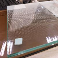 "Quality 1/2"" thick clear safety frit pattern tempered laminated glass panel for Infinity wholesale"