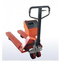 Cheap OEM Mild Steel Pallet Jack Weight Scale , Red Hand Pallet Truck With Scale for sale
