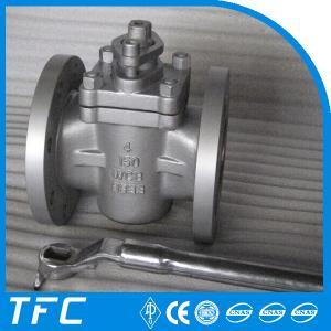 China 4in fange end PTFE sleeve plug valve on sale