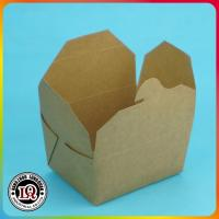 Cheap Disposable Brown Kraft Paper Food Containers for sale
