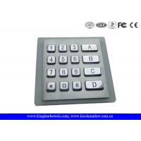 Buy cheap Rugged Silicone Vandal-proof LED Backlit Keypad with Matrix 4x4 from Wholesalers