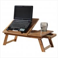 Folding bamboo small square table portable computer desk for Small folding desk table