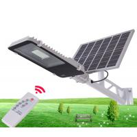 Cheap Durable Solar Powered LED Street Lights / Solar Street Lamp With Remote Control for sale
