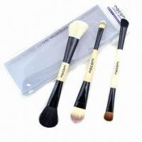 Cheap Cosmetic Brush Set with Wooden Handle for sale