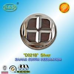 Cheap D021B Cache Vis Coffin Fitting Zamak Metal Coffin Screw Cap Silver Color for sale