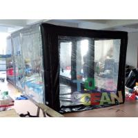Cheap Indoor / Outdoor PVC Inlflatable Sealed Car Capsule Covers Garage With Customized for sale
