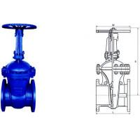 Cheap Electric Actuated Water Cast Steel Gate Valve 150lb - 1500lb Pressure for sale