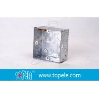 Cheap Pre-Galvanized Steel Electrical Boxes And Covers , British Standard BS Box For Switches wholesale