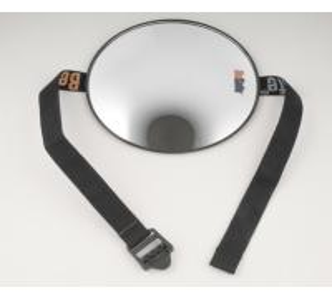 Round 17.5cm dia convex rearveiw mirror for kid safety nylon strap adjustable car mirror  ESM301