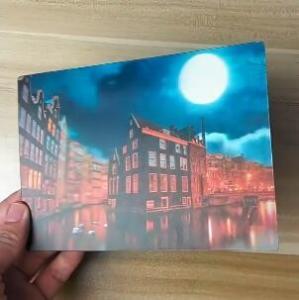 Cheap OK3D printing factory supply Good Quality Custom Offset Printing Plastic PET Lenticular 3D lenticular card for sale
