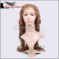 Cheap Full lace wig, 9# 4cm wave 100% remy hair, Front lace/Machined wig can be customized. for sale