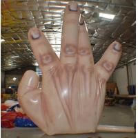Cheap Fire resistant Giant Inflatable Single Hand Decoration with 5 fingers for sale
