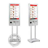 Quality 32 Inch PCAP Touch Screen Self Payment Kiosk Windows10 Ordering Machine Kiosk With Thermal Printer wholesale