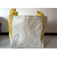 Cheap Building Use 1 Tonne Bulk Bags , 100% Virgin PP White Large Bulk Bags for sale