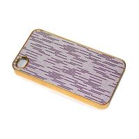 Buy cheap Golden edge shiny raindrop design iPhone 4 protective Fire Case with hard from wholesalers