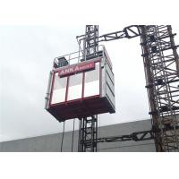 Cheap Building Construction Hoist Elevator , Twin Cage Material Lifting Equipment 2 Ton Capacity for sale