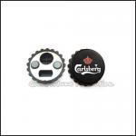 Cheap customed promotional gift printed logo fridge magnetic bottle cap cover lid opener gift for sale