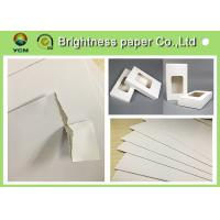 Cheap White Backing Board Hang Tag Paper Board With 100% Recycled Pulp 31 * 43 for sale