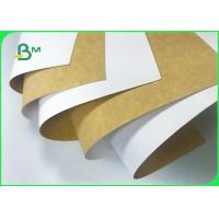 Cheap 100% Safe 250gsm 325gsm 365gsm Coated Kraft Paper Board For Dry Food Packaging for sale