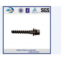 Cheap UIC Standard Large Railroad Tie Screw Spike For Fastening Rails for sale