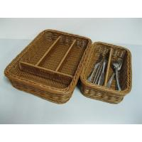 Divided Rattan Cutlery Basket Of Rattanbasket