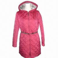 China Women's Padded Jackets, 3m Thinsulate Insulation Material, Striped Tape Belt, OEM Orders are Welcome on sale