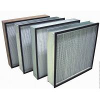 Cheap Biological HEPA Clean Room Air Filters , H14 99.995% Box Filter for sale