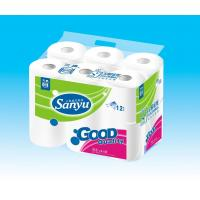 Cheap Sanyu Virgin Wood Pulp Toilet Tissue Roll for sale
